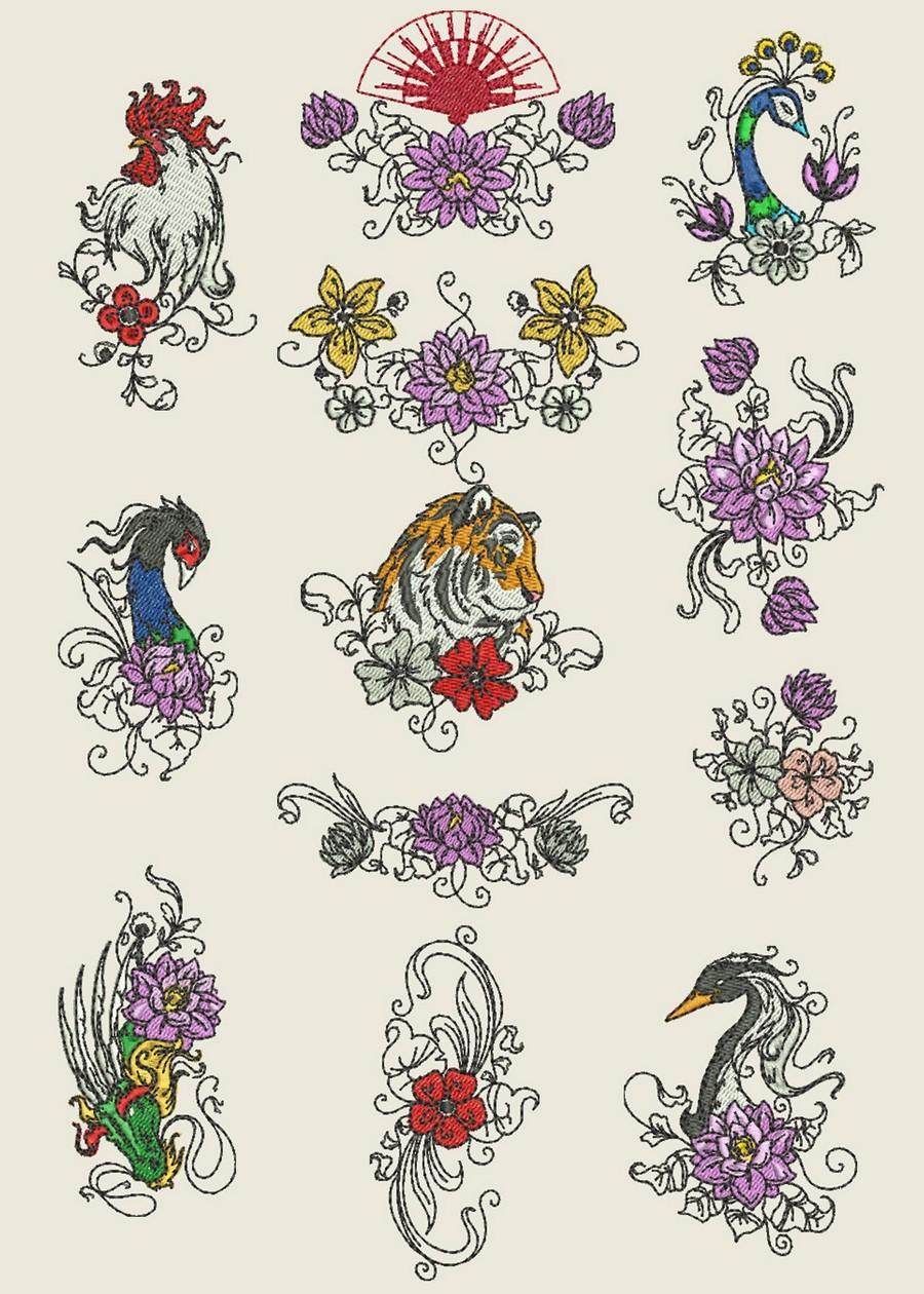 Дизайны машинной вышивки бесплатно Royal Present Embroidery 29