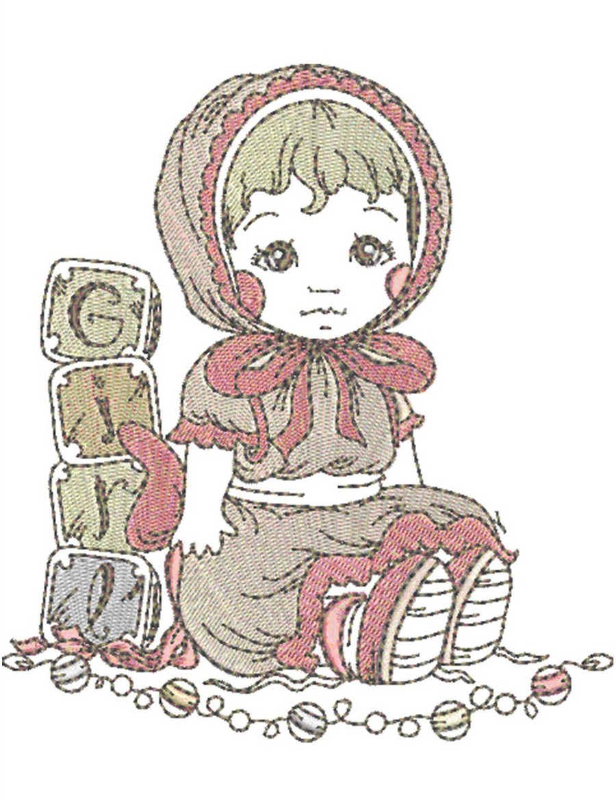 Baby girl stuff collection machine embroidery designs by