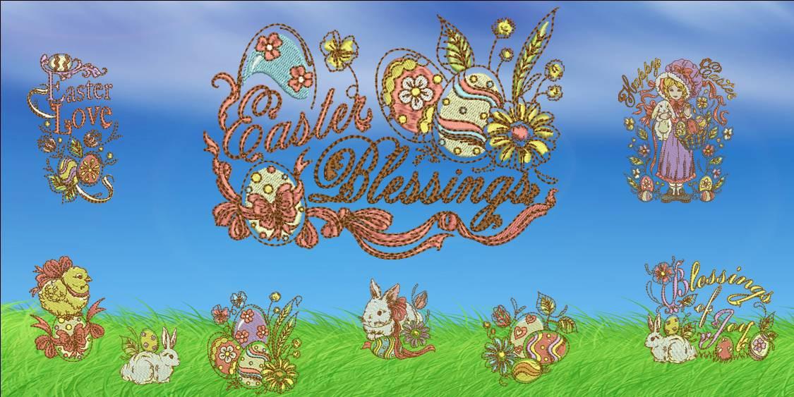 Easter Blessings Banner