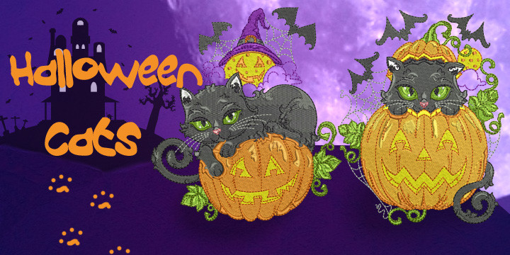 Halloween Cats Banner