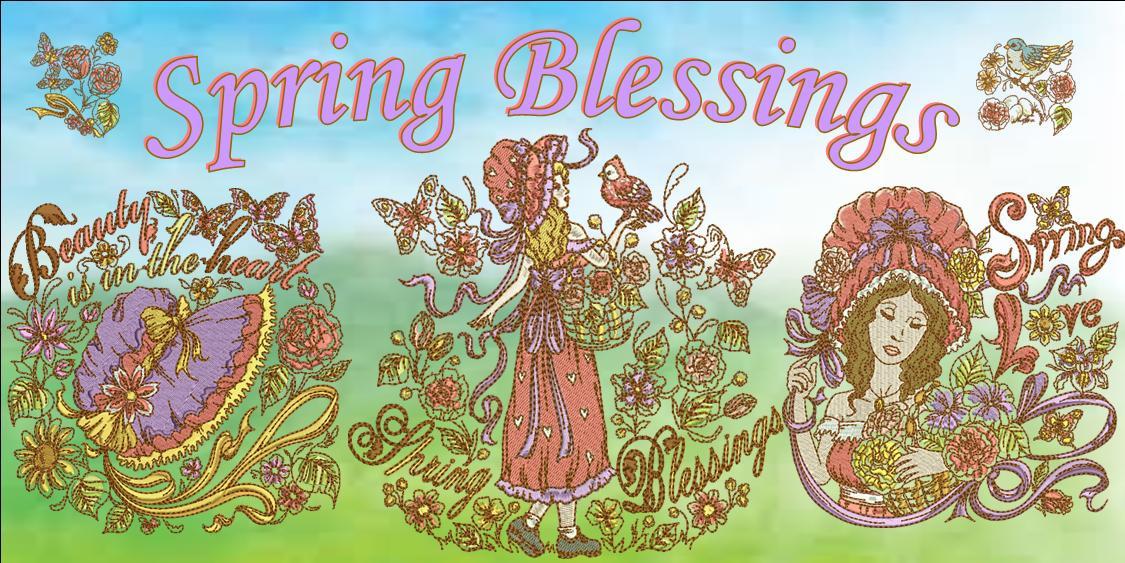 Spring Blessings Banner