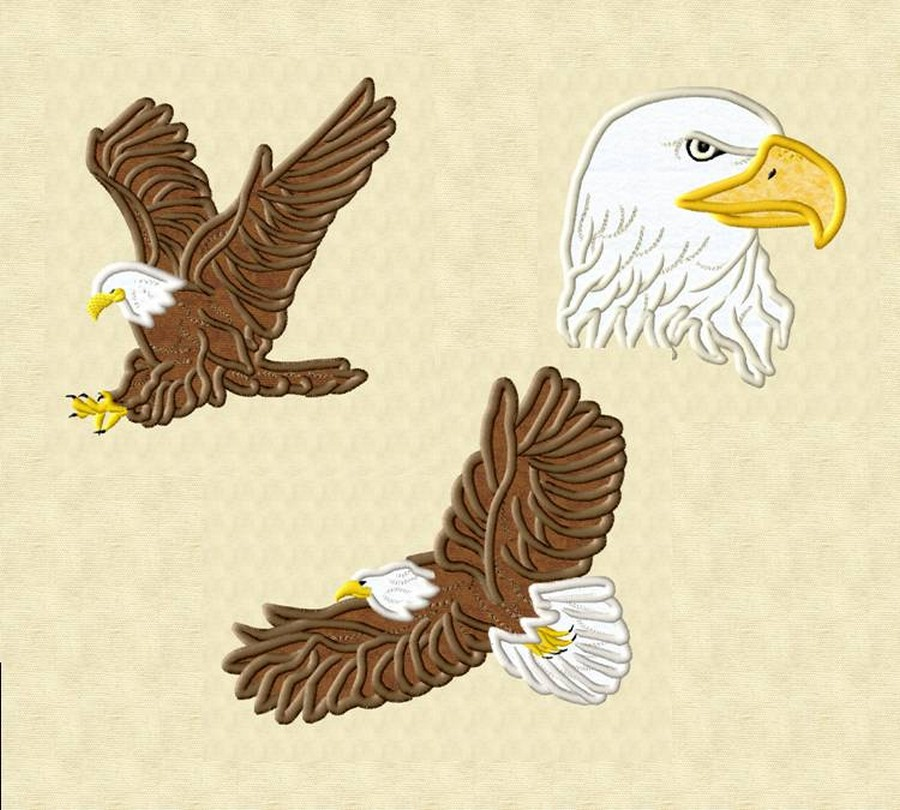 Eagle Applique Collection | Machine Embroidery Designs By Sew Swell