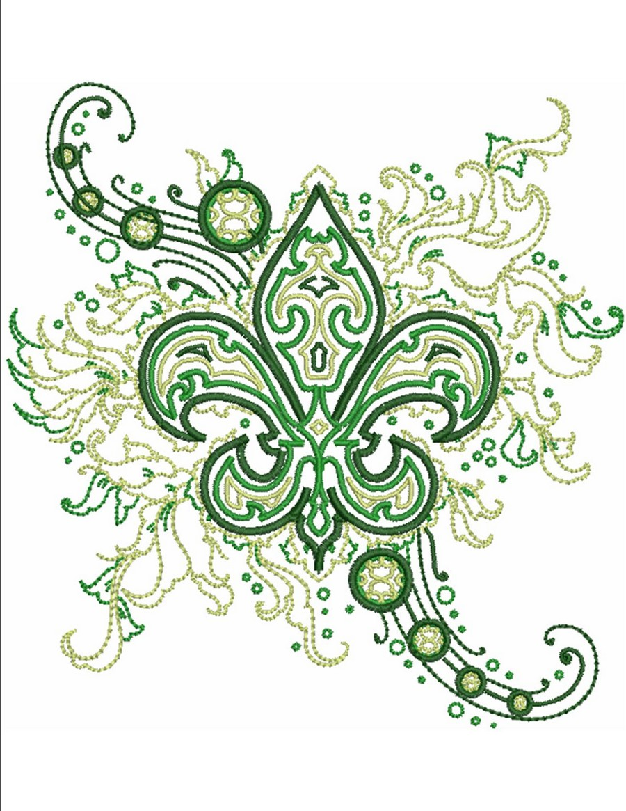 fleur de lis fashion machine embroidery designs by sew swell. Black Bedroom Furniture Sets. Home Design Ideas