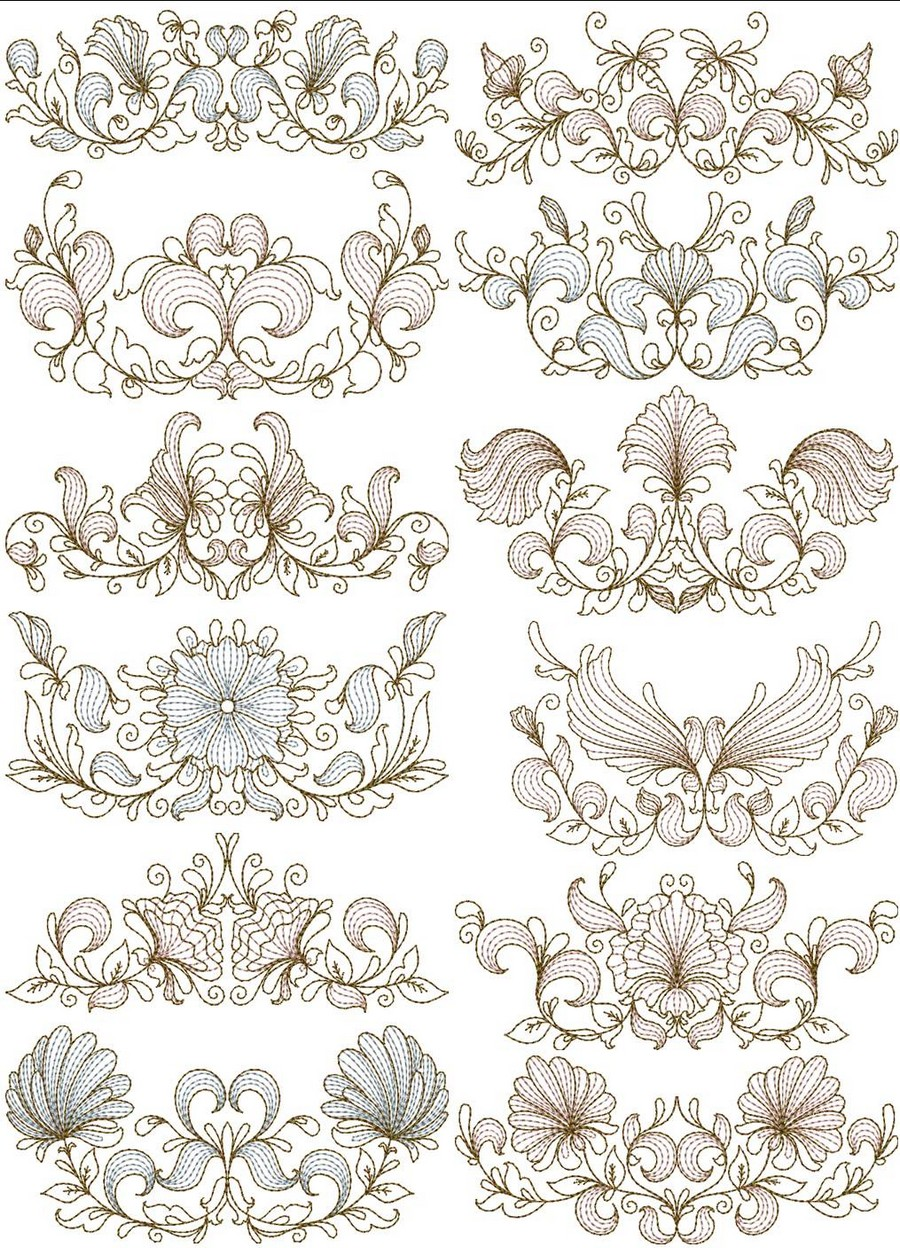 Quilting Border Embroidery Designs : Heritage Quilt Borders Machine Embroidery Designs By Sew Swell