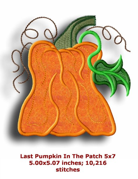 pumpkin patch applique 5 u00d77