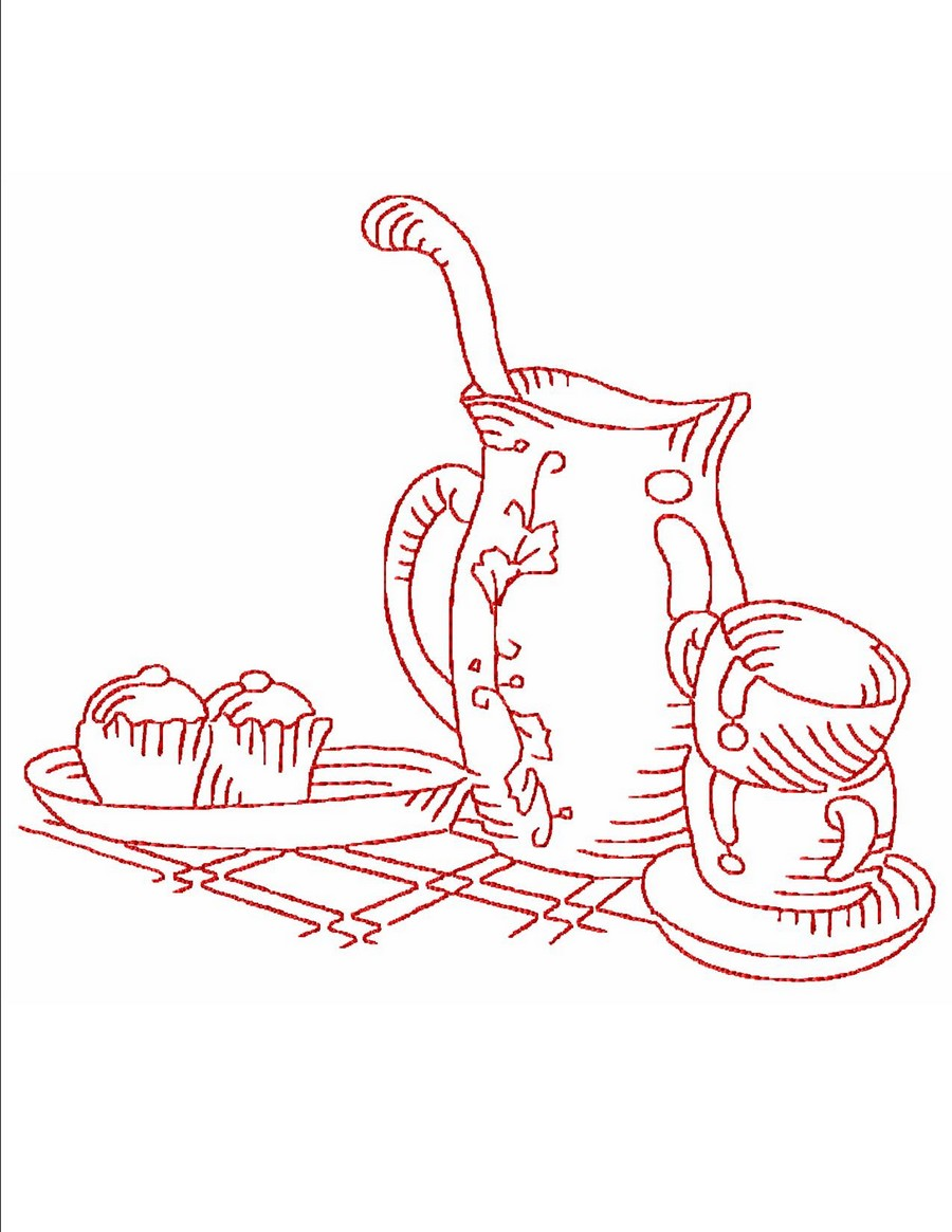 Redwork Kitchen | Machine Embroidery Designs By Sew Swell
