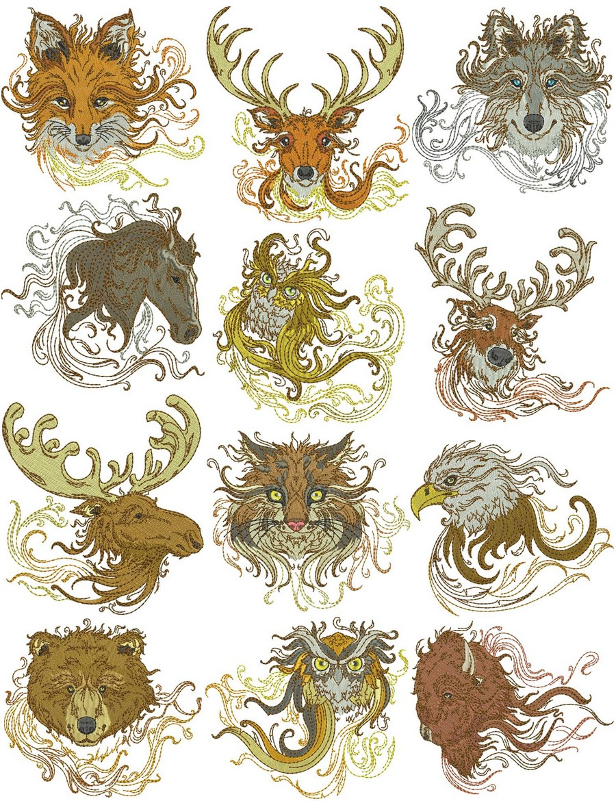 Spirit Of The Wild Collection Machine Embroidery Designs