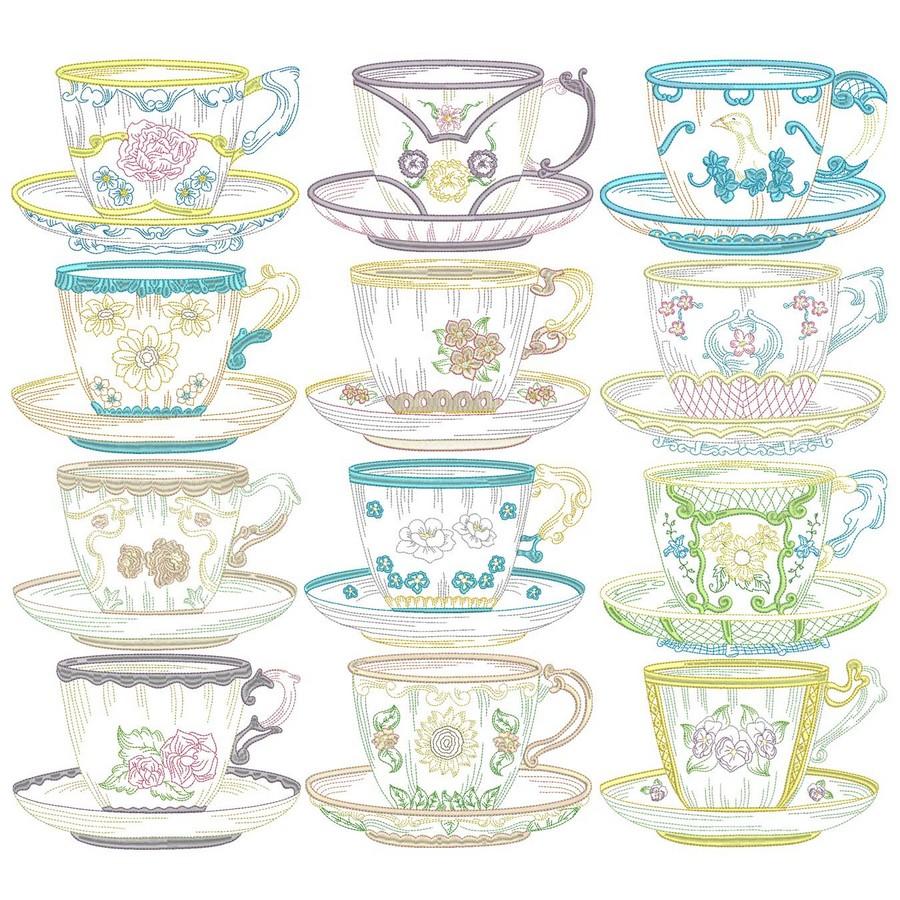 Vintage Teacups on Victorian Kitchen Design