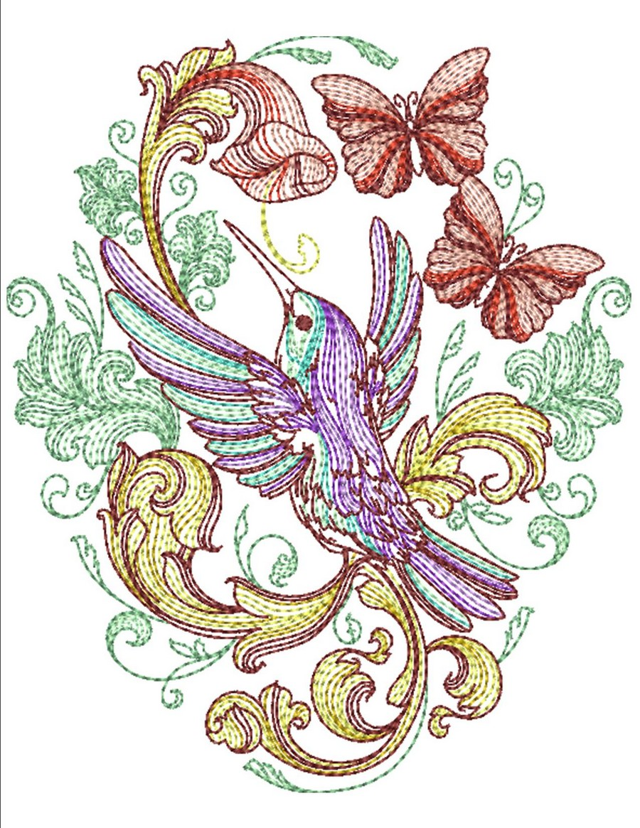 Spring Baroque Machine Embroidery Designs By Sew Swell