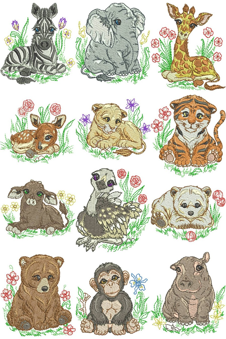 Zoo animals embroidery designs bing images