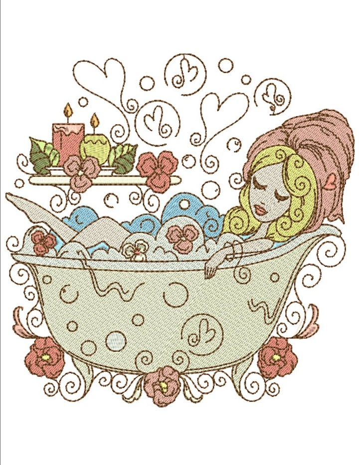 Love Bath and Spa | Machine Embroidery Designs By Sew Swell