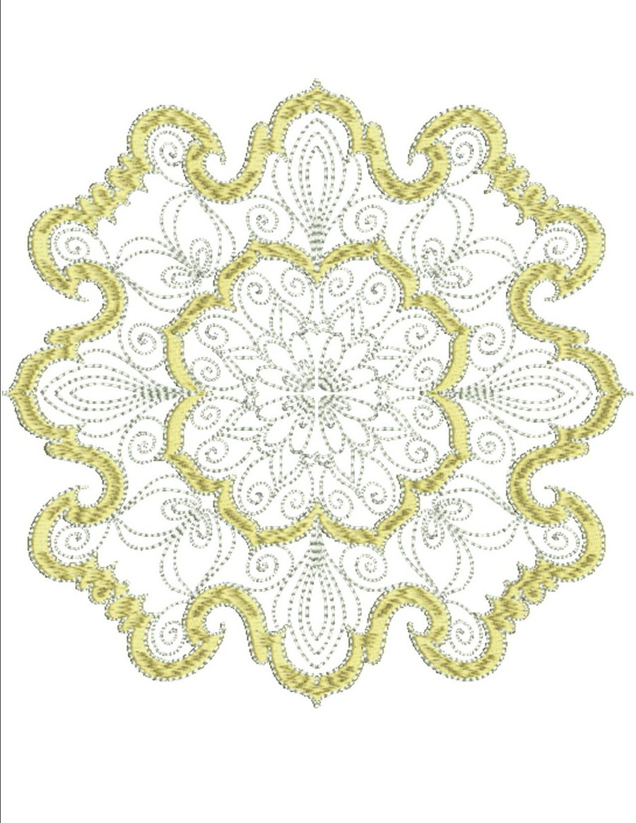 Silver and gold machine embroidery designs by sew swell