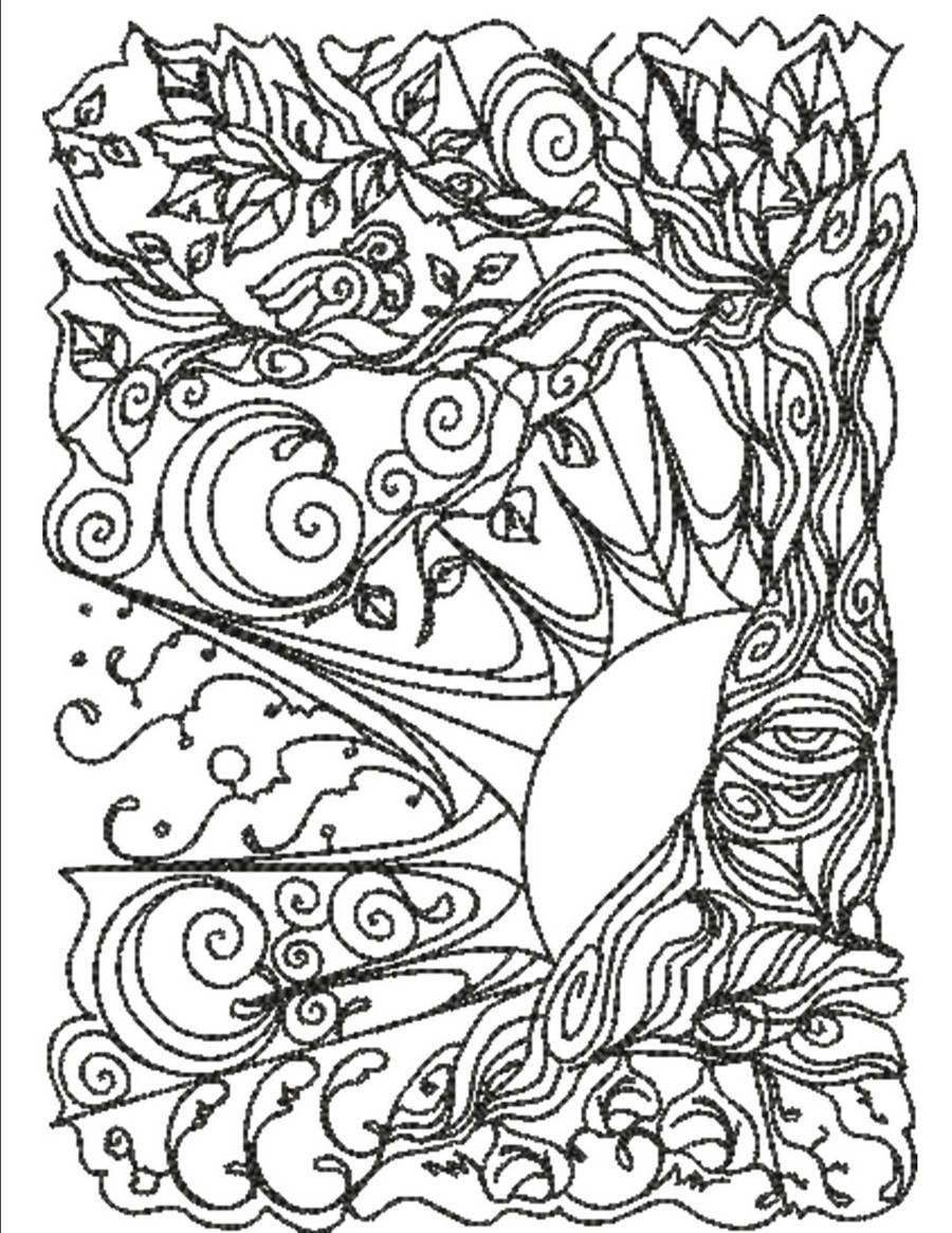 Magical Trees Color Pages | Machine Embroidery Designs By Sew Swell