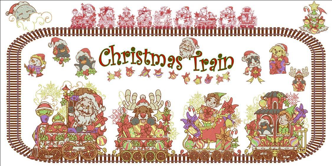 Christmas Train Banner