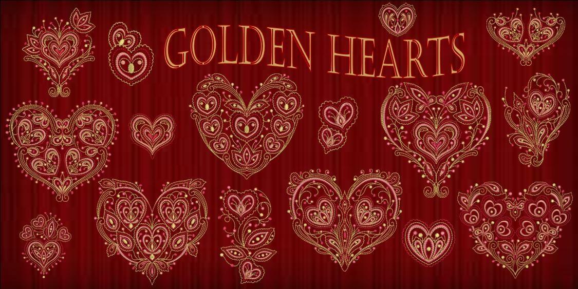 Golden Hearts BannerDK red