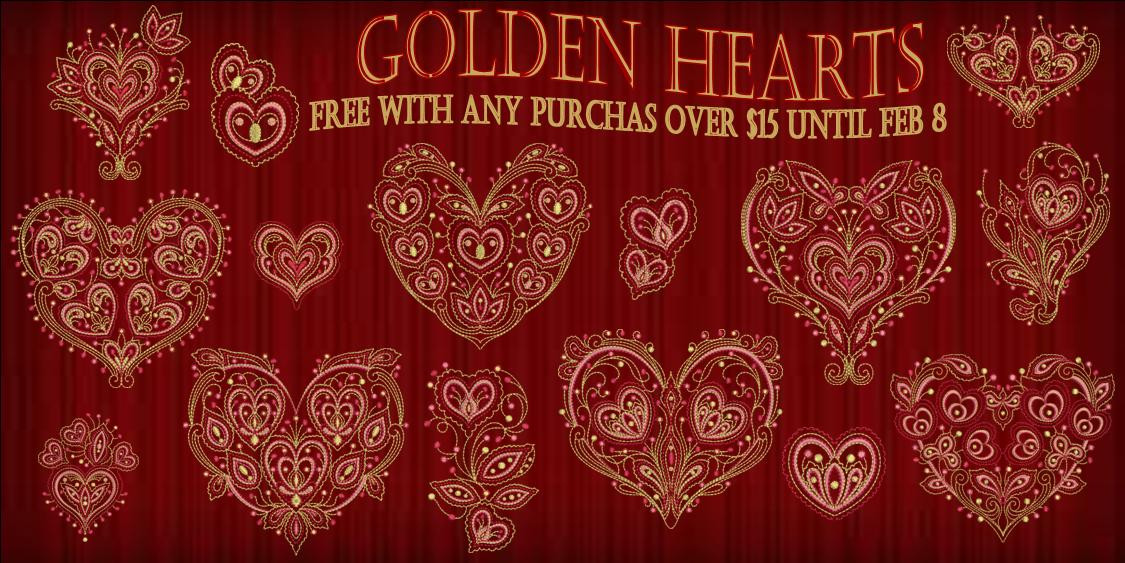 Golden Hearts BannerFREE