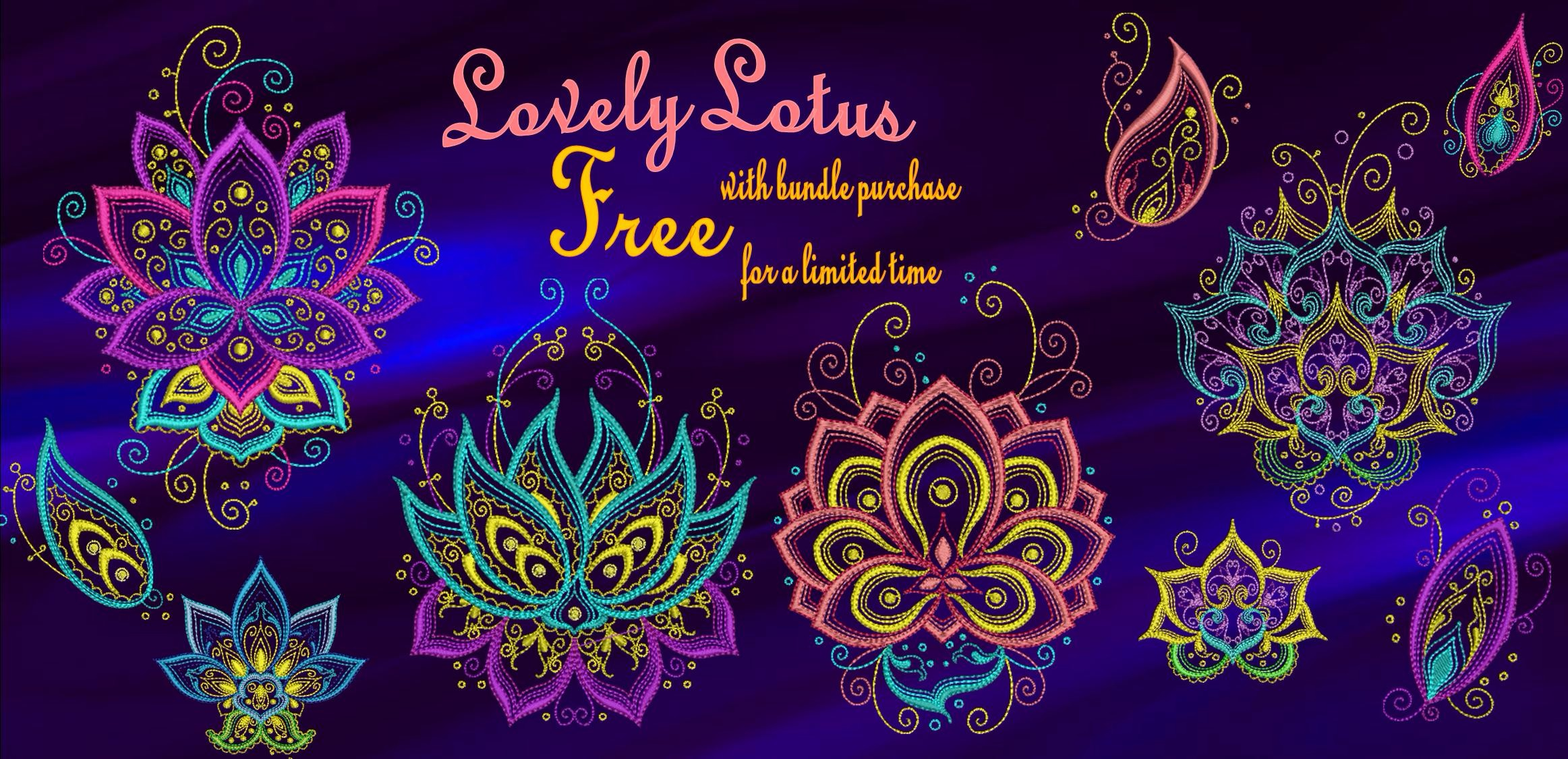 Lovely Lotus Banner Free