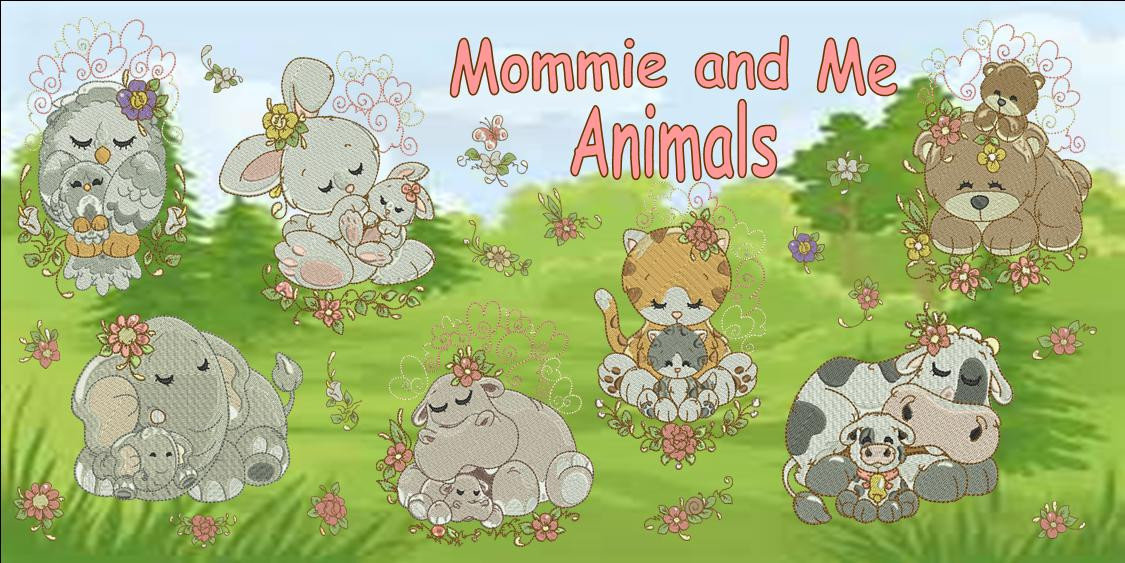 Mommie and Me Animals Banner