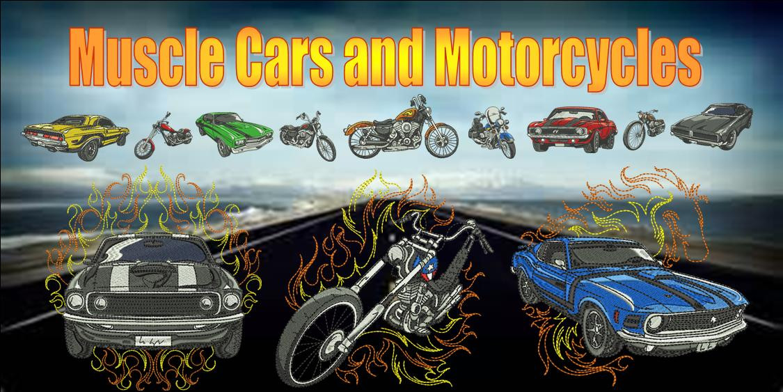 Muscle Cars and Motorcycles Banner