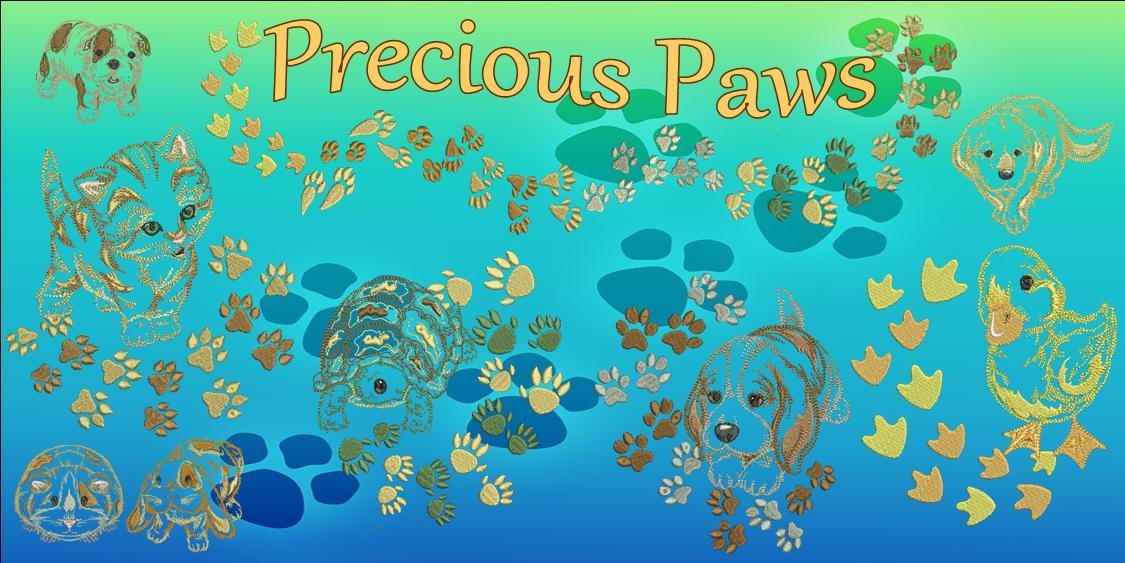Precious paws banner