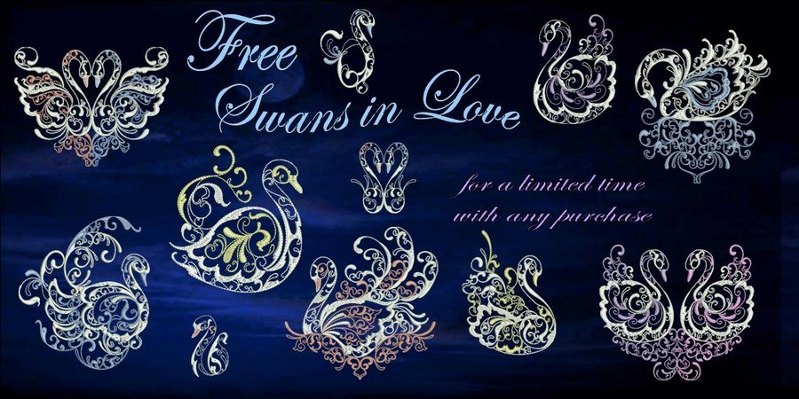 Swans in Love BANNER FREE_900
