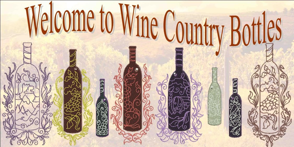 Wine Country Bottles Banner