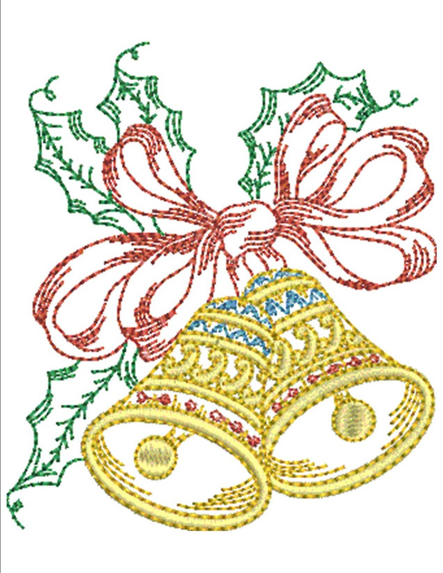 Christmas Bells Collection Machine Embroidery Designs By