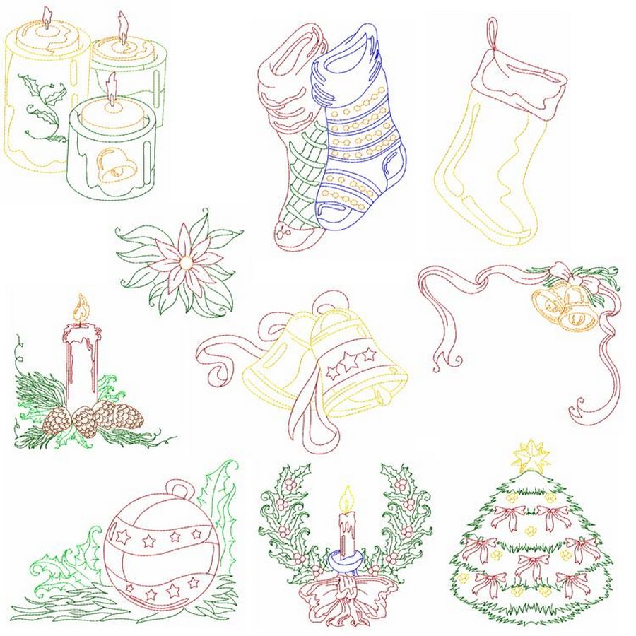 Easy Christmas | Machine Embroidery Designs By Sew Swell