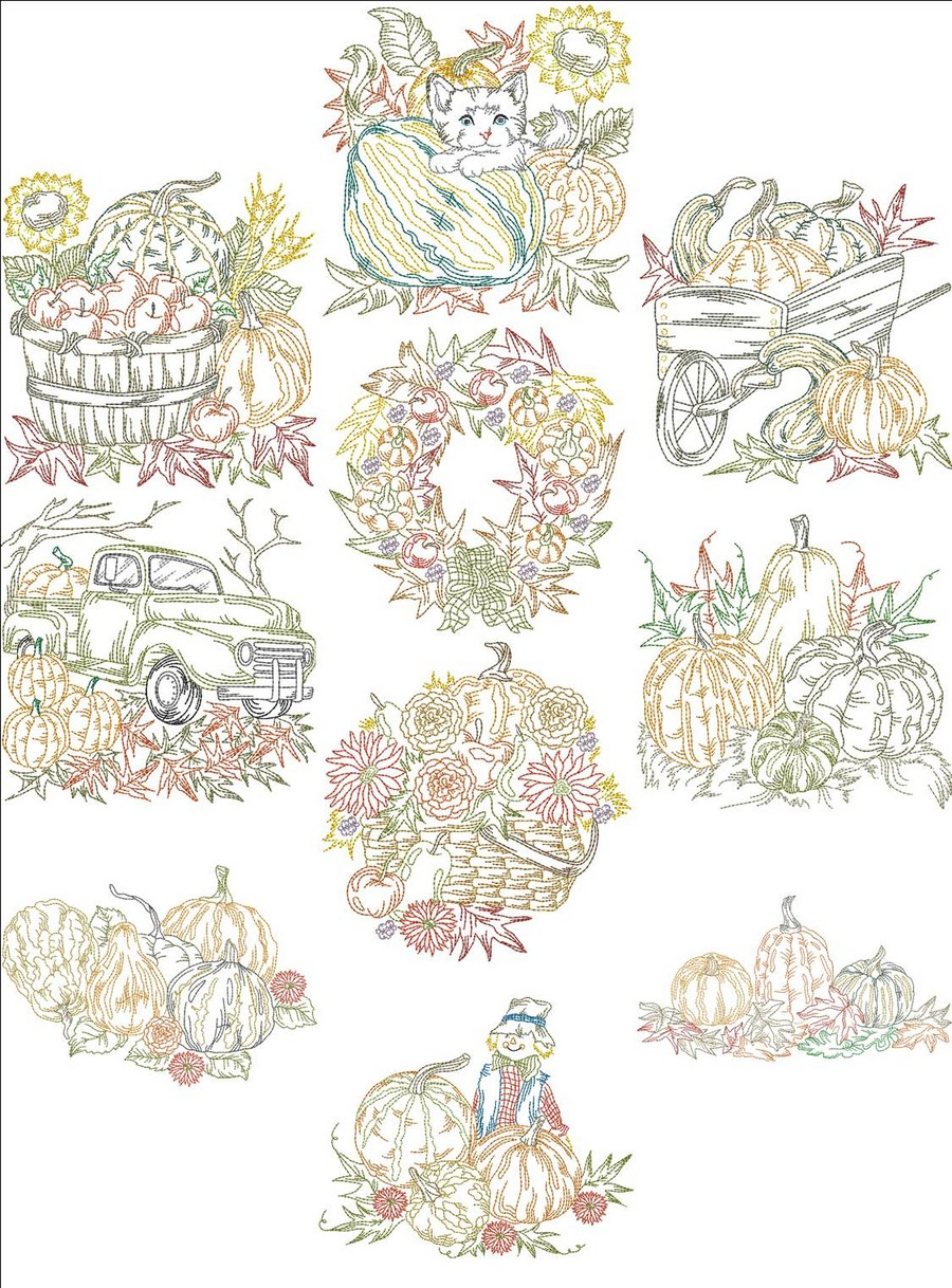 Old fashion autumn blocks machine embroidery designs by Fashion embroidery designs