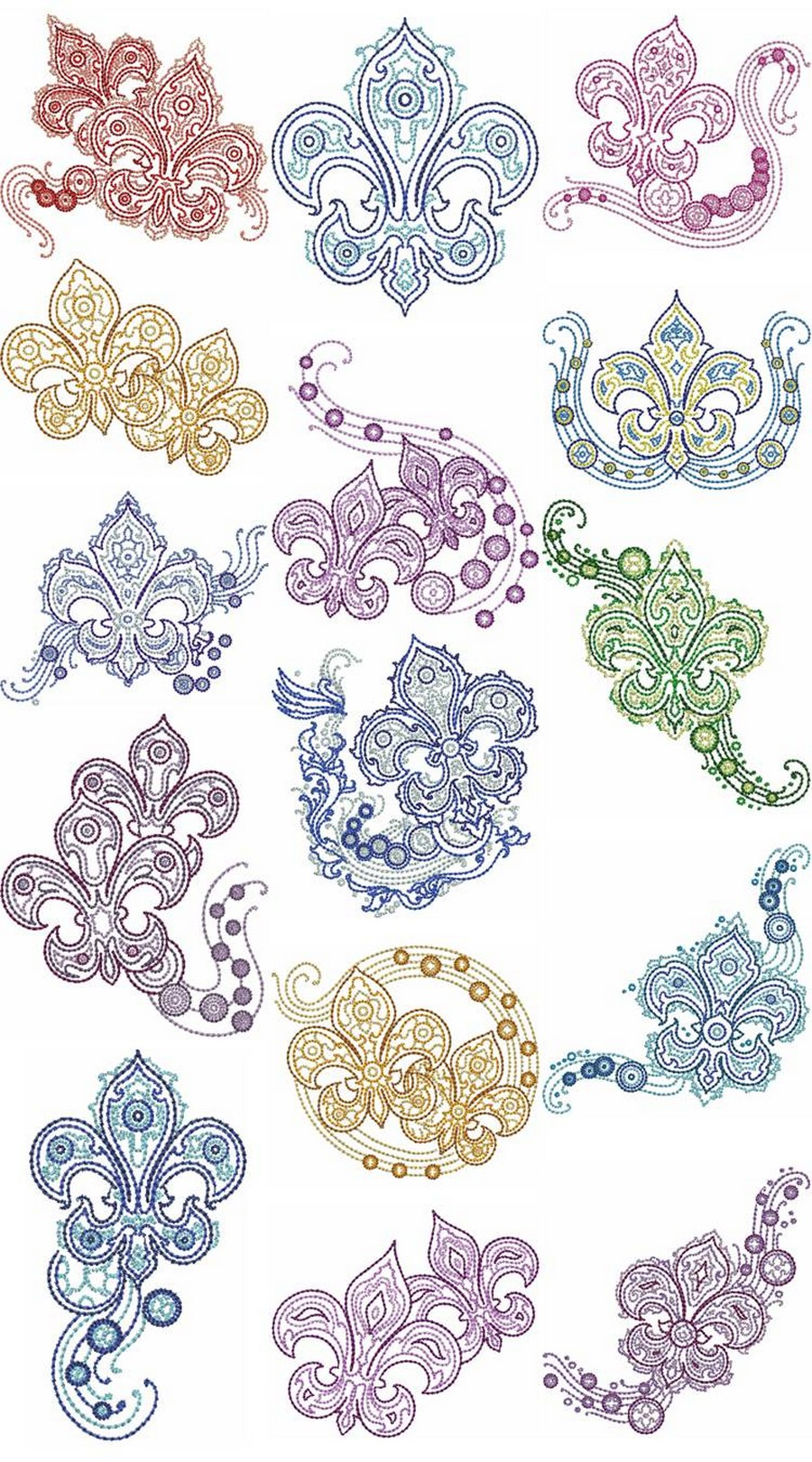Fleur de lis fashion machine embroidery designs by sew swell Fashion embroidery designs