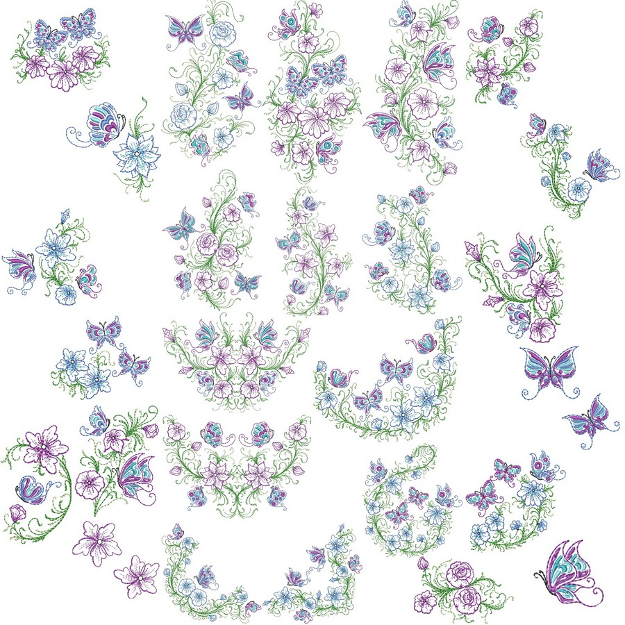 Floral elegance designs machine embroidery by