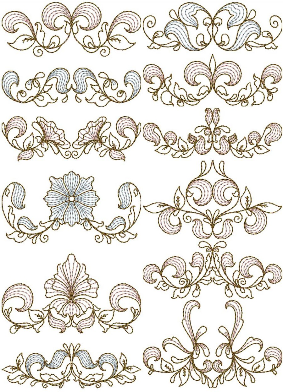 Heritage Quilt Borders Machine Embroidery Designs By Sew