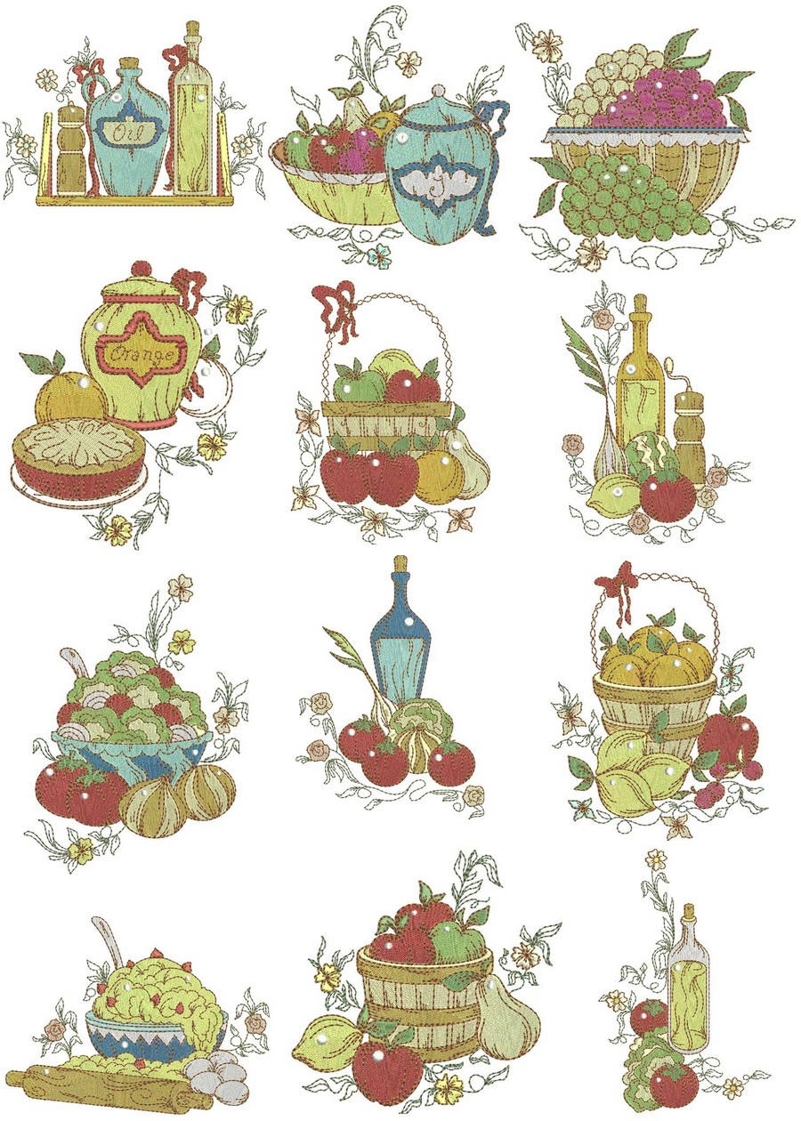 Kitchen Delights Machine Embroidery Designs By Sew Swell