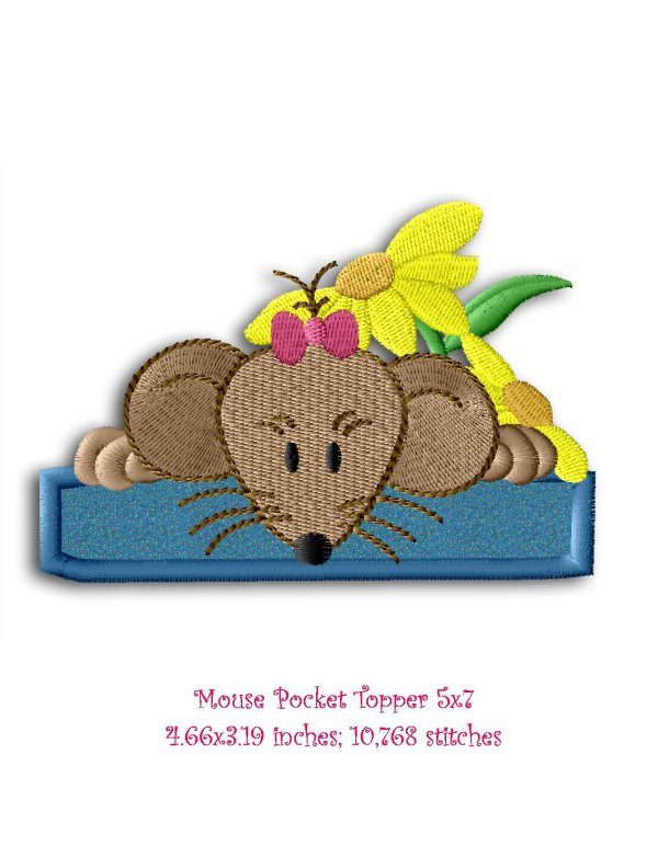 country mouse 5 5 applique machine embroidery designs by