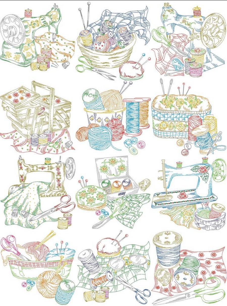 Old fashioned sewing machine embroidery designs by sew swell