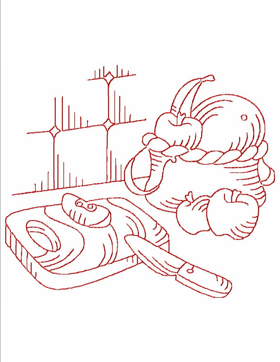 Redwork Kitchen Machine Embroidery Designs By Sew Swell