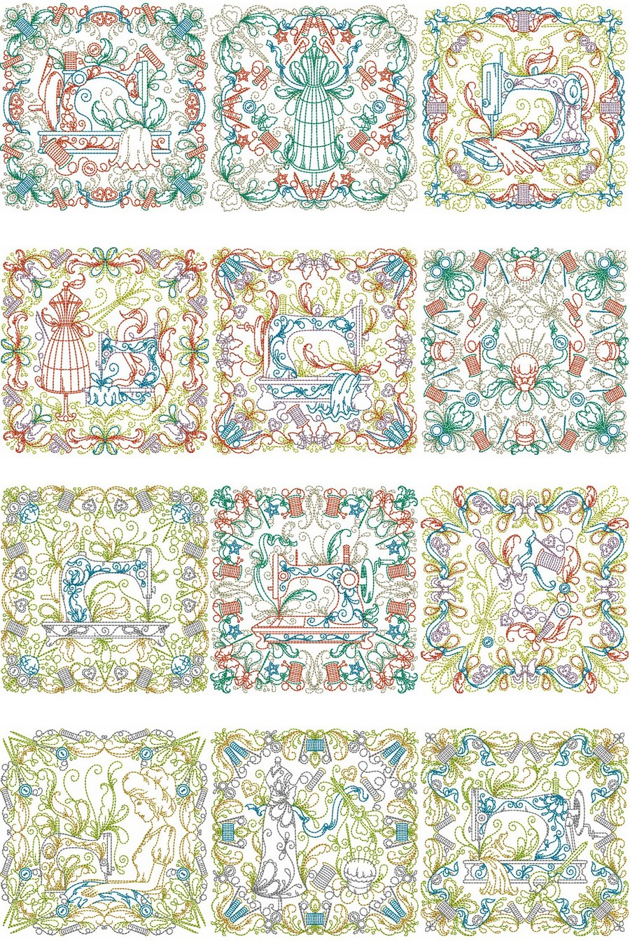 Sewing Room Blocks Machine Embroidery Designs By Sew Swell