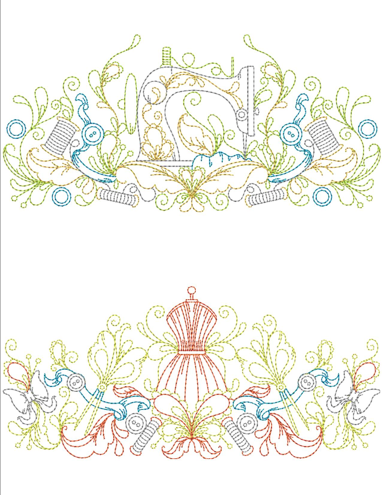 Sewing Room Borders Machine Embroidery Designs By Sew Swell