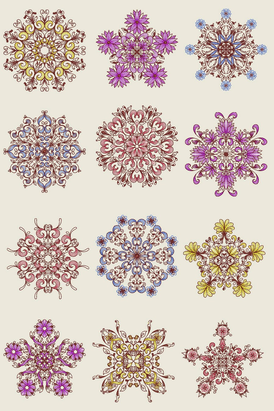Spring Kaleidoscope Machine Embroidery Designs By Sew Swell