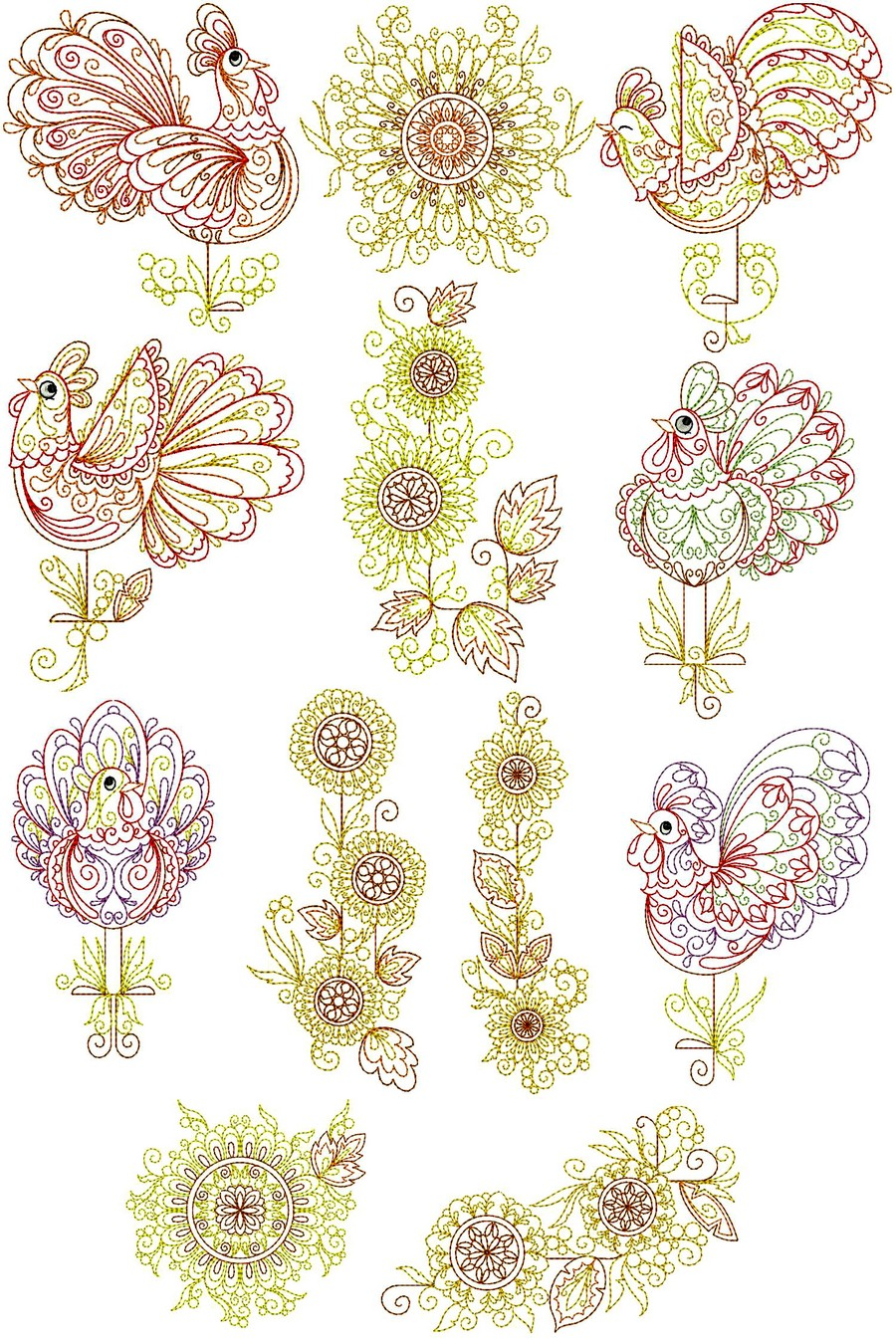 Suns Up Collection Machine Embroidery Designs By Sew Swell