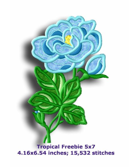 Tropical Applique 57 Machine Embroidery Designs By Sew Swell