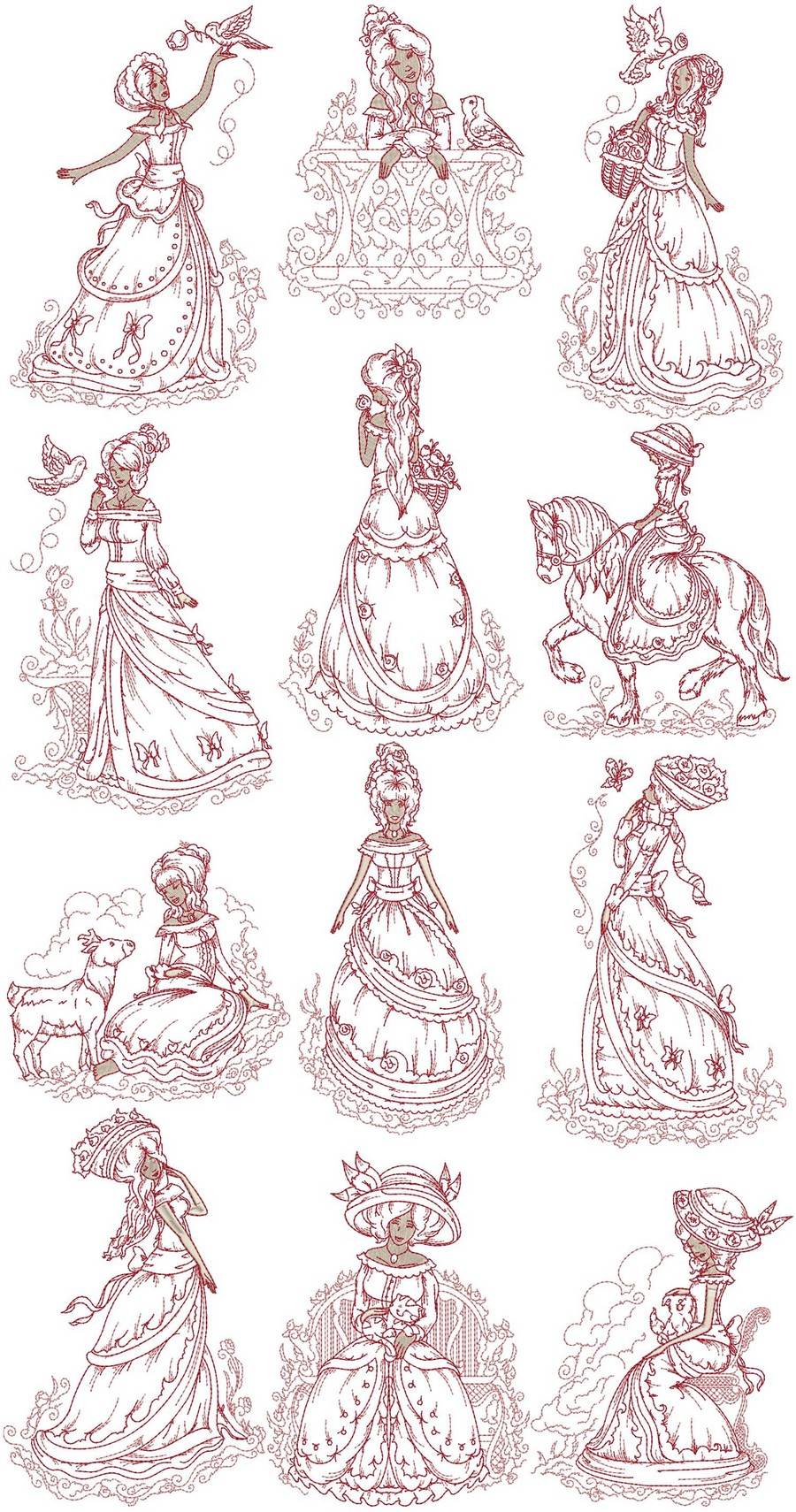 Victorian Ladies Machine Embroidery Designs By Sew Swell