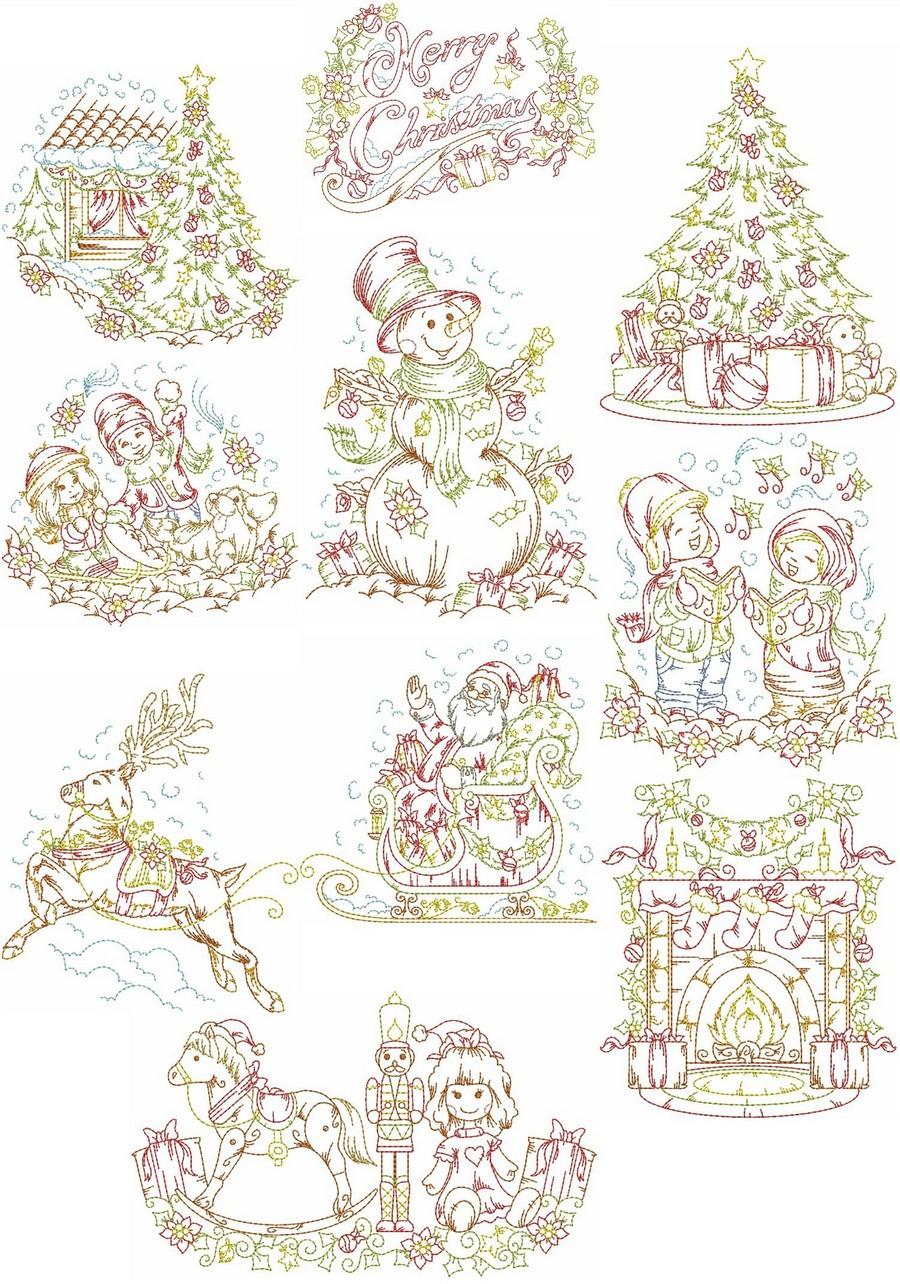 Vintage christmas embroidery designs makaroka