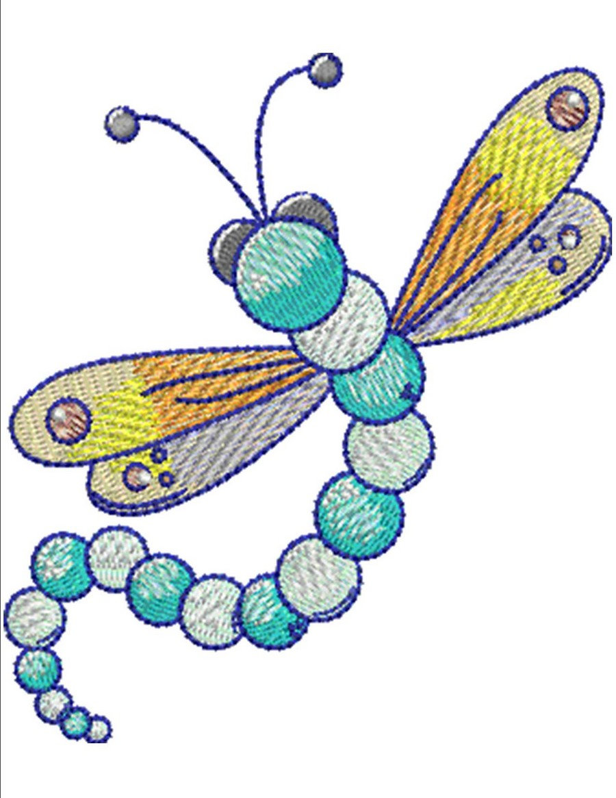 Whimsical Dragonflies And Friends Machine Embroidery Designs By