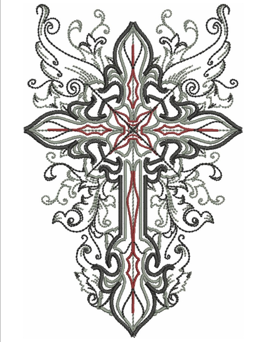 Wings of the cross machine embroidery designs by sew swell for Designs com