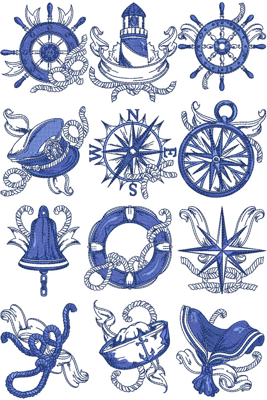chevron nautical machine embroidery designs by sew swell. Black Bedroom Furniture Sets. Home Design Ideas