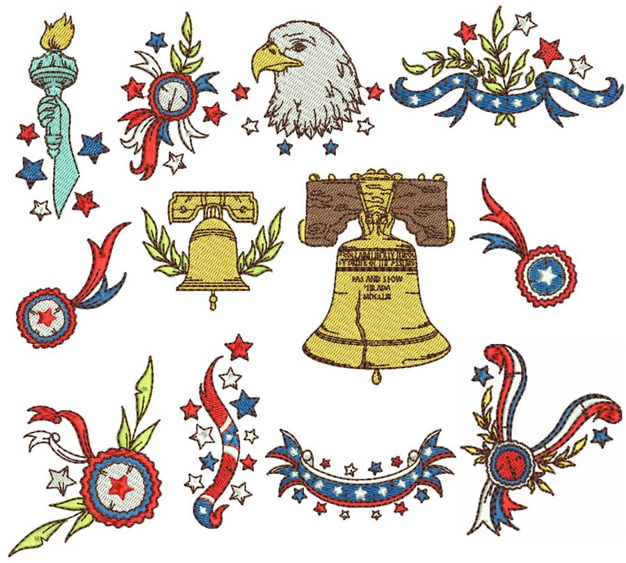 Vintage Americana | Machine Embroidery Designs By Sew Swell Vintage Americana Graphics