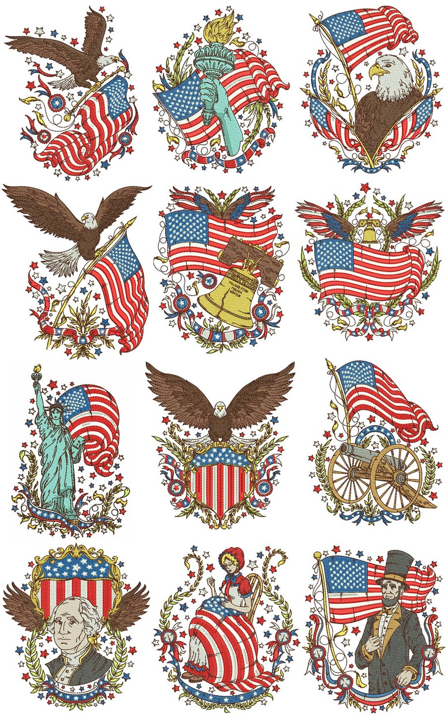 Vintage Americana Machine Embroidery Designs By Sew Swell