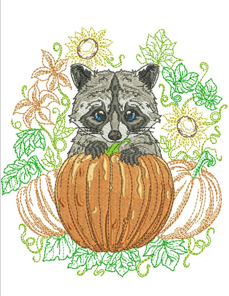 critters autumn animal designs embroidery machine hoop 5x7 4x4 option choose options 6x10 fall sewswell