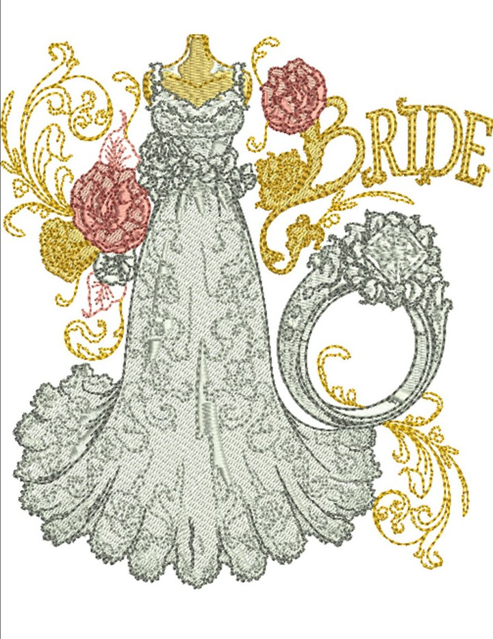 Popular wedding machine embroidery designs free